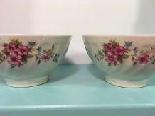 2 bols à déjeuner fleuris