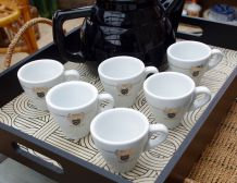 6 tasses à cafés bistro Malongo