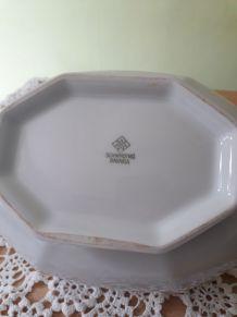 Superbe soupière en porcelaine de Bavière, vintage