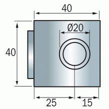 Serrure à cylindre 5 paillettes - Marque VACHETTE 4464 pour meubles
