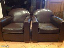 Très belle paire de fauteuil club vintage