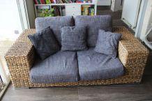 Canapé 2 places + fauteuil