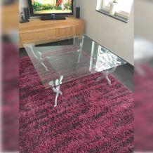 Table basse en verre vintage Pop Art