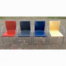 4 chaises MOD de Martin BALLENDAT pour WIESNER HAGER - 1990