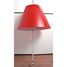 Lampe télescopique Costanza Tavolo Rouge vintage