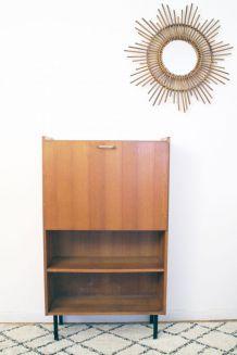 Petit Secrétaire bureau vintage années 60 style Pierre Guariche