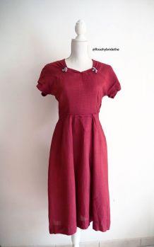 Robe bois de rose vintage 40's