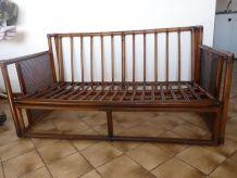 Canapé 2 places en bambou + 2 fauteuils