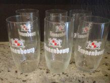 Lot de 6 verres à bière