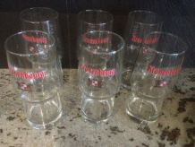 Lot de 6 verres à bières