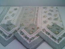Nappe et lot de 8 serviettes de table