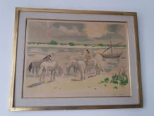 Lithographie YVES BRAYER