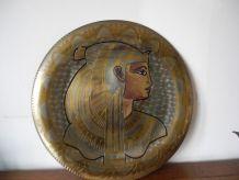 Plateau mural Cuivre et Laiton Artisanat Egyptien  Années 70