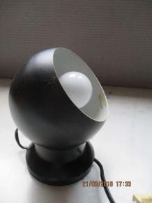 Lampe boule aimantée noire scandinave 1970 vintage 70's