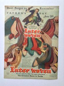 """Publicité vintage - fête des pères - """"The Inter Woven Company"""""""