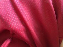 Robe vintage bordeaux rayée argentée