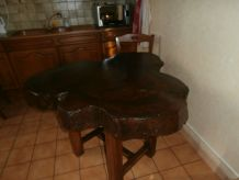Table en orme massif