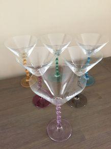 6 verres à cocktail