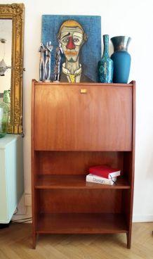 Secrétaire bureau vintage scandinave 50's