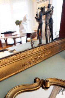 Grand Miroir VINTAGE Doré style Empire