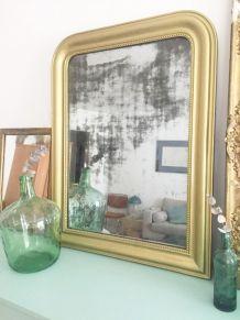 Grand miroir doré Haussmanien Louis Philippe