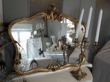 Miroir style rocaille Louis XV or