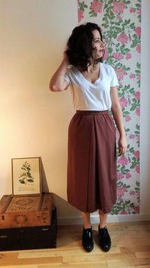 Adelaïde - Jupe portefeuille vintage longueur midi - Rodier