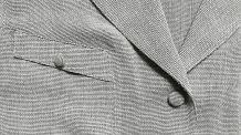 Dina - Chemisier veste vintage à manches courtes écru chiné