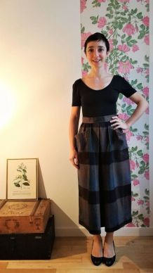 Camille - Jupe midi taille haute vintage Yves Saint Laurent