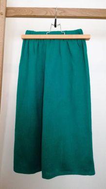 Régine - Jupe vintage taille haute élastiquée laine côtelée