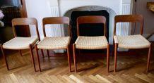 Série de quatre chaises scandinaves, O Moller