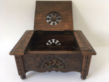 coffret breton en bois sculpté /boite à bijoux
