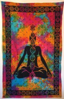 Tenture Indienne Chakras/Méditation