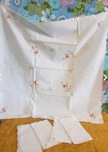 Nappe carrée serviettes