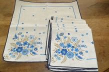 LOT DE 6 SERVIETTES DE TABLE VINTAGE