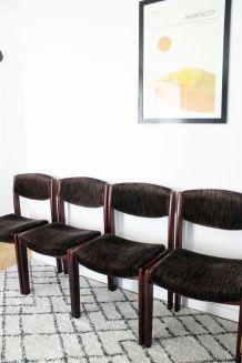 Suite de 4 chaises vintage SEVENTIES 1970