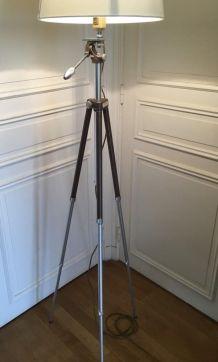 Lampadaire créé s/ancien trépied photo_style loft/atelier