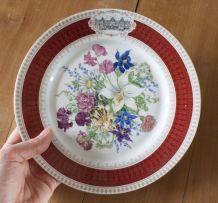 assiette limoges bouquet renaissance Fontainebleau