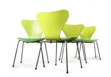 4 chaises Vertes - Arne Jacobsen