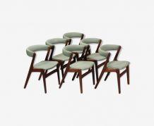6 Chaises de salle à manger en teck