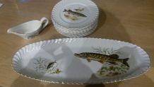 Service à poisson Faïencerie de Luneville