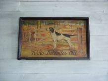 Peinture sur panneau bois