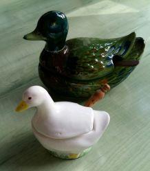 Série Vintage de canards et poules et animaux décoratifs