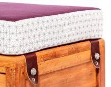 Banquette upcycling en tissu coloré à motif - Ryad