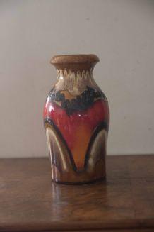 vase scheurich coloré années 70