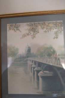 pastel du pont des arts