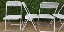 4 chaises metal