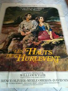 """GRANDE AFFICHE de cinéma """"Les Hauts de Hurlevent"""""""