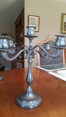 chandeliers étain