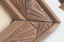 cadre ancien en bois motif art déco